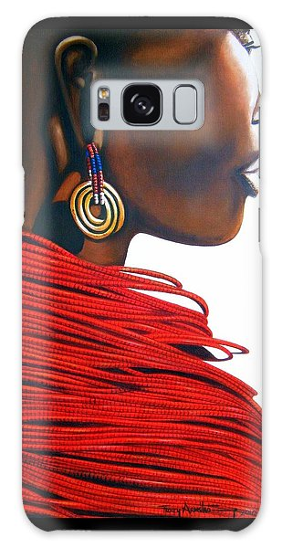 Masai Bride - Original Artwork Galaxy Case