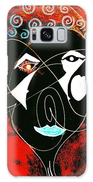 Masked Abstract Galaxy Case by Carolyn Repka