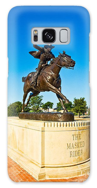 Galaxy Case featuring the photograph Masked Rider Statue by Mae Wertz