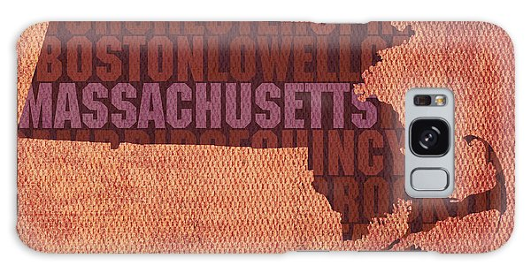 Motivational Galaxy Case - Massachusetts Word Art State Map On Canvas by Design Turnpike