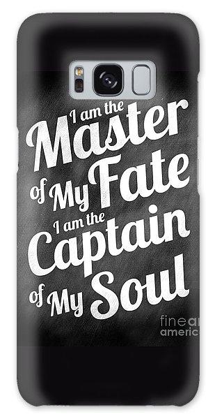 Master Of My Fate - Chalkboard Style Galaxy Case