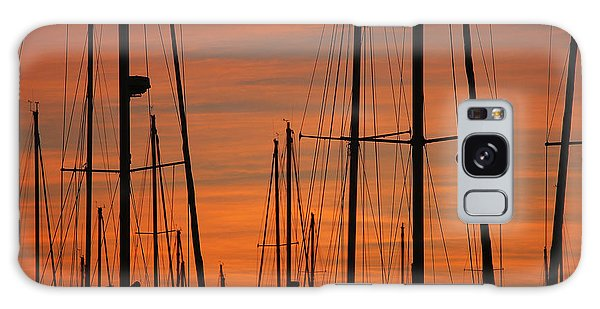 Masts At Sunset Galaxy Case