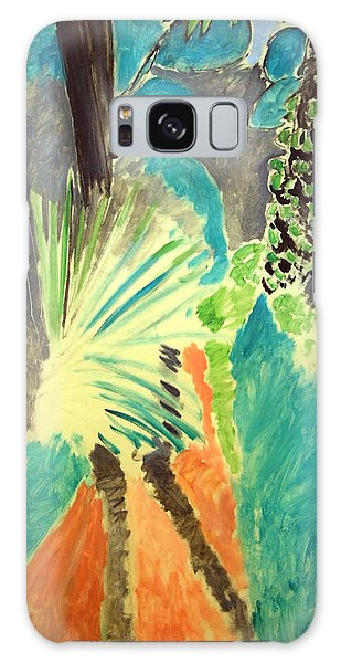 Matisse's Palm Leaf In Tangier Galaxy Case by Cora Wandel