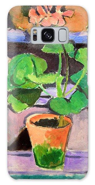 Matisse's Pot Of Geraniums Galaxy Case by Cora Wandel