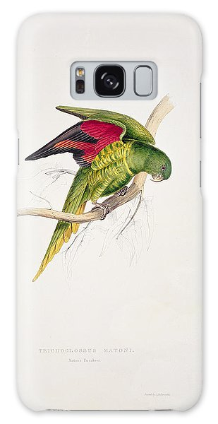 Parakeet Galaxy Case - Matons Parakeet by Edward Lear