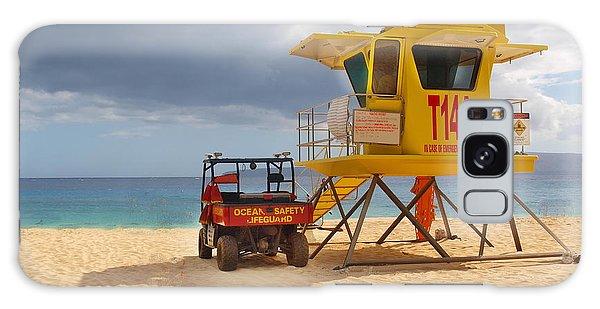 Maui Lifeguard Tower Galaxy Case