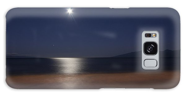 Maui Moonset Galaxy Case
