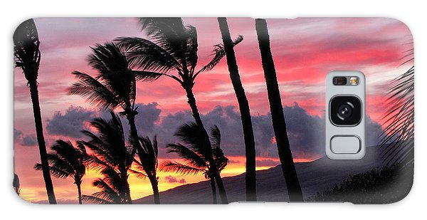 Maui Sunset Galaxy Case by Peggy Hughes
