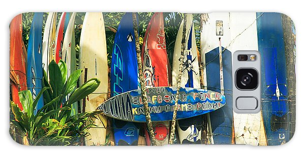 Maui Surfboard Fence - Peahi Hawaii Galaxy Case
