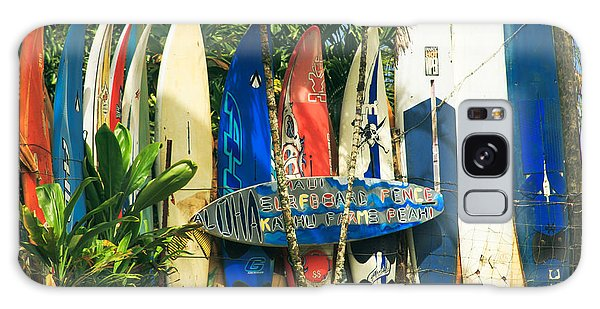 Maui Surfboard Fence - Peahi Hawaii Galaxy Case by Sharon Mau