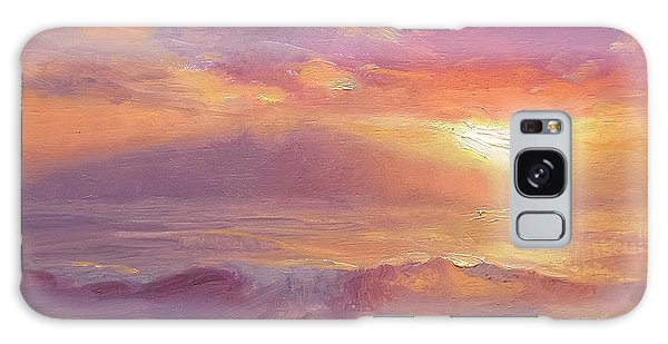 Coastal Hawaiian Beach Sunset Landscape And Ocean Seascape Galaxy Case