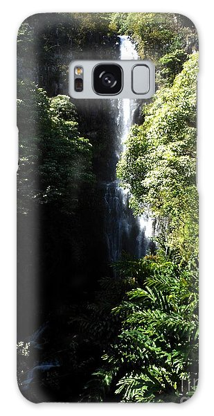 Maui Waterfall Galaxy Case by Fred Wilson