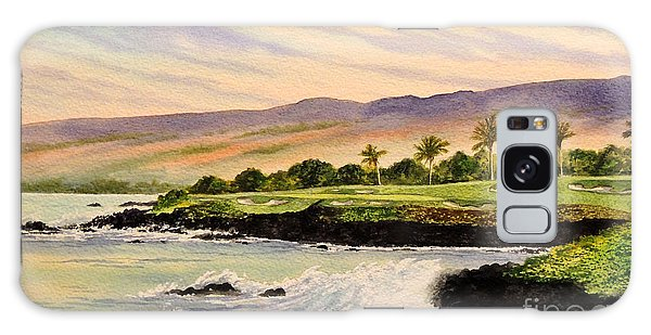 Mauna Kea Golf Course Hawaii Hole 3 Galaxy Case by Bill Holkham