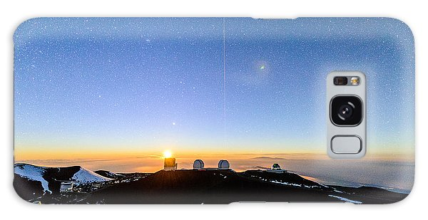 Mauna Kea Moonset 1 Galaxy Case