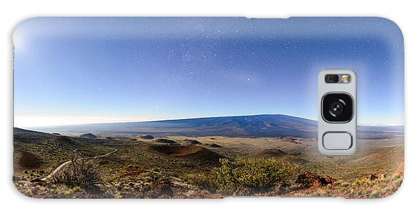 Mauna Loa Moonlight Panorama Galaxy Case