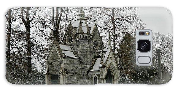 Mausoleum In Winter Galaxy Case by Kathy Barney