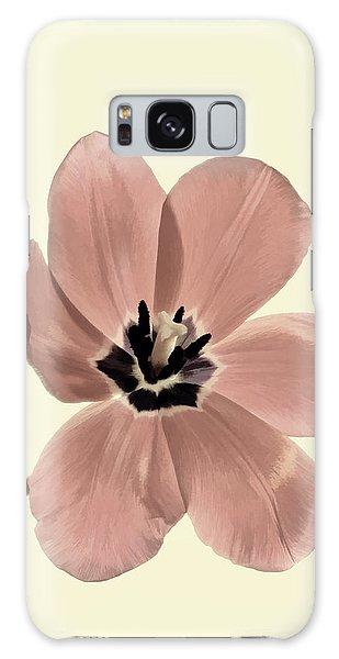 Mauve Tulip Transparency Galaxy Case