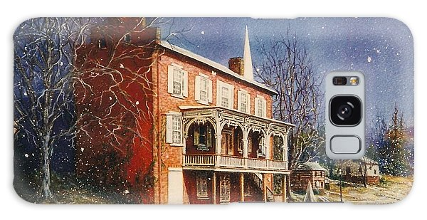 May House In Winter Galaxy Case