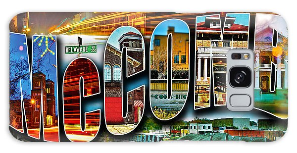 Mccomb Mississippi Postcard Galaxy Case