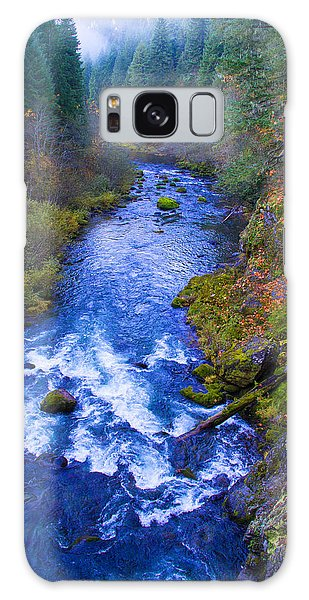 Mckenzie River In Autumn Galaxy Case
