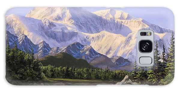 Majestic Denali Mountain Landscape - Alaska Painting - Mountains And River - Wilderness Decor Galaxy Case