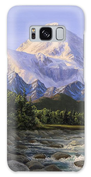 Majestic Denali Alaskan Painting Of Denali Galaxy Case