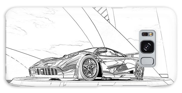 Mclaren F1 Sketch Galaxy Case