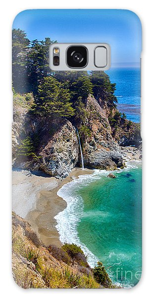 Mcway Falls At Julia Pfeiffer Burns State Park Galaxy Case