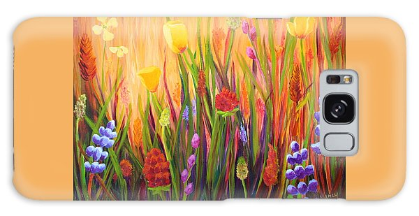 Meadow Gold Galaxy Case by Nancy Jolley