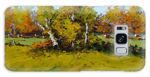 Meadow In Autumn Galaxy Case by Fred Wilson