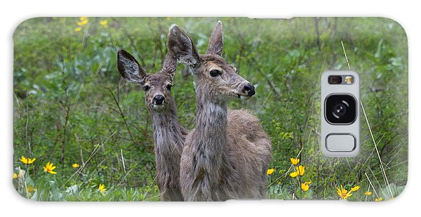 White-tailed Deer Galaxy Case - Meadow Meal by Mike  Dawson