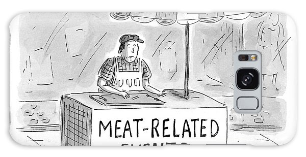 Cart Galaxy Case - Meat-related Events by Roz Chast