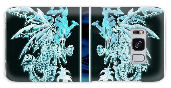 Galaxy Case featuring the mixed media Mech Dragons Diamond Ice Crystals by Shawn Dall