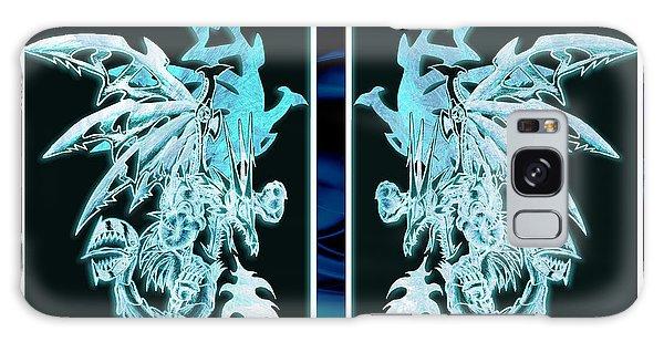 Mech Dragons Diamond Ice Crystals Galaxy Case by Shawn Dall