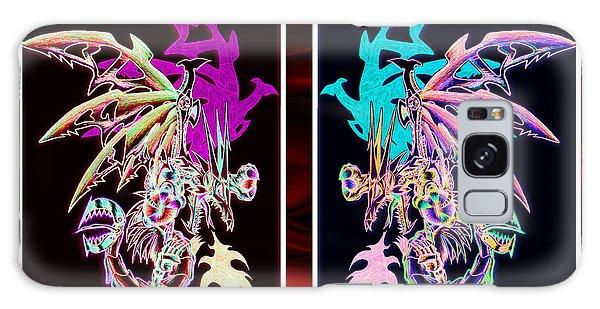 Mech Dragons Pastel Galaxy Case by Shawn Dall