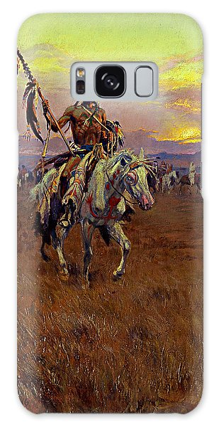 Medicine Man Galaxy Case by Charles Marion Russell