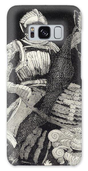 Medieval Knight On Horseback - Chevalier - Caballero - Cavaleiro - Fidalgo - Riddare -ridder -ritter Galaxy Case by Urft Valley Art