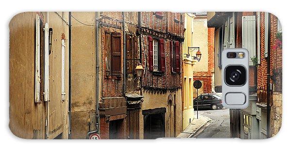 Brick House Galaxy Case - Medieval Street In Albi France by Elena Elisseeva