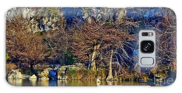 Medina River At Comanche Cliffs Galaxy Case