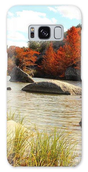 Fall Cypress At Bandera Falls On The Medina River Galaxy Case