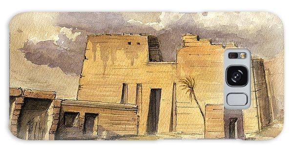 Egypt Galaxy Case - Medinet Temple Egypt by Juan  Bosco