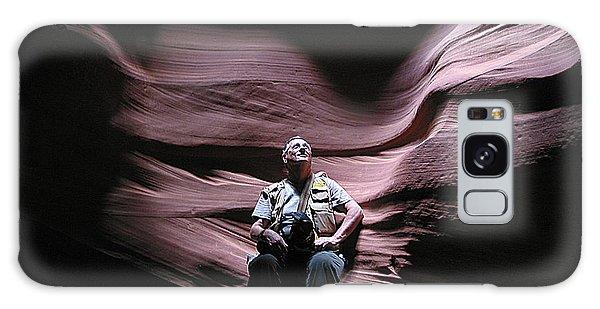 Meditating In Antelope Slot Canyon Arizona Galaxy Case