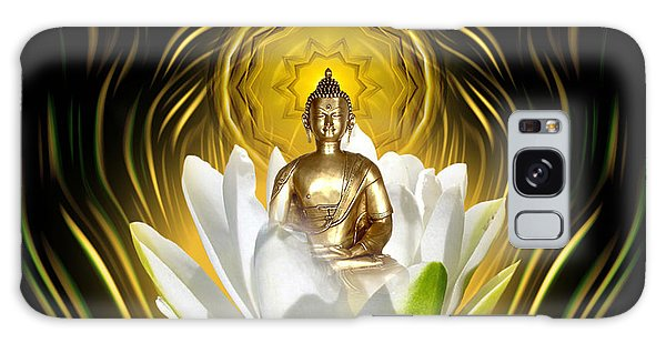 Meditating With Buddha Galaxy Case