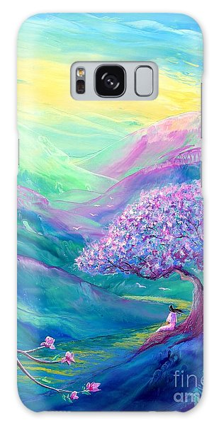 Heather Galaxy Case - Meditation In Mauve by Jane Small