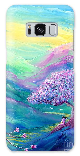 Blossoms Galaxy Case - Meditation In Mauve by Jane Small