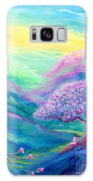 Figurative Galaxy Case - Meditation In Mauve by Jane Small