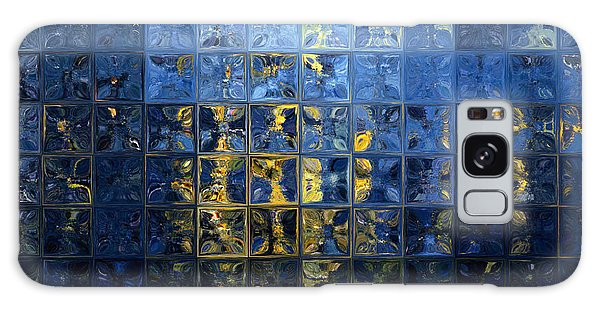Mediterranean Blue. Modern Mosaic Tile Art Painting Galaxy Case by Mark Lawrence
