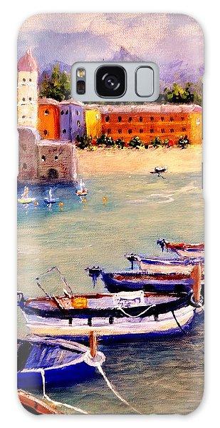 Mediterranean Harbour.. Galaxy Case by Cristina Mihailescu