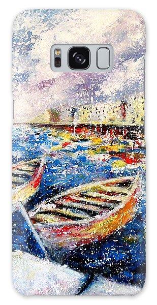 Mediterranean Port Colours Galaxy Case