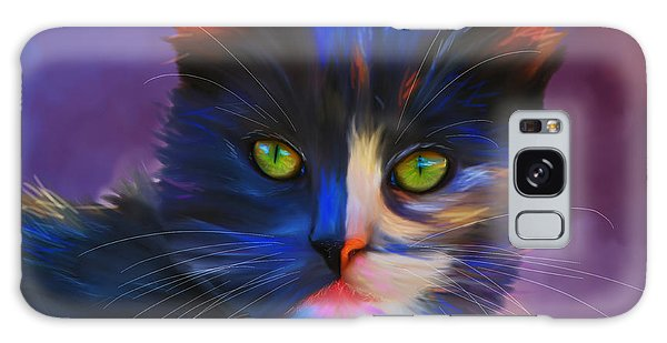 Meesha Colorful Cat Portrait Galaxy Case